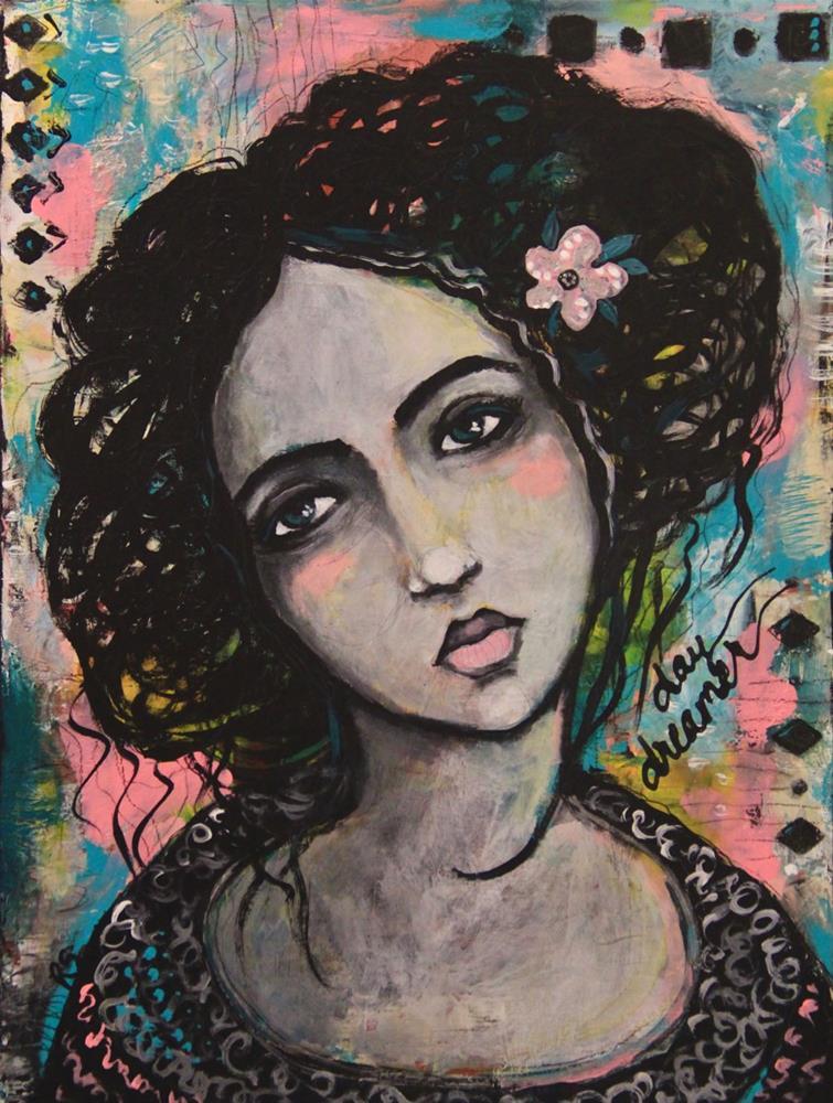 """""""She Was a Daydreamer"""" original fine art by Roberta Schmidt"""
