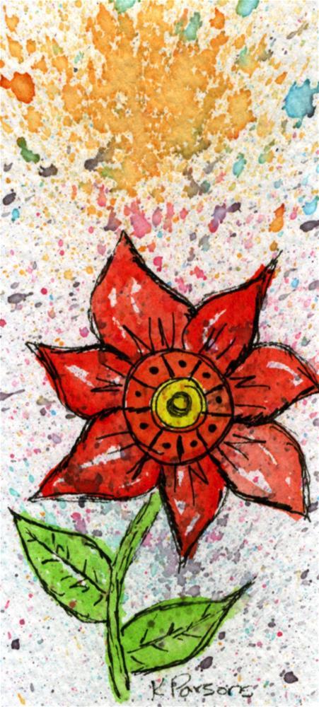 """Big Red"" original fine art by Kali Parsons"