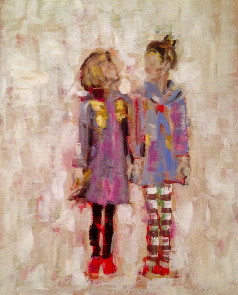 """""""Besties"""" original fine art by Molly Wright"""