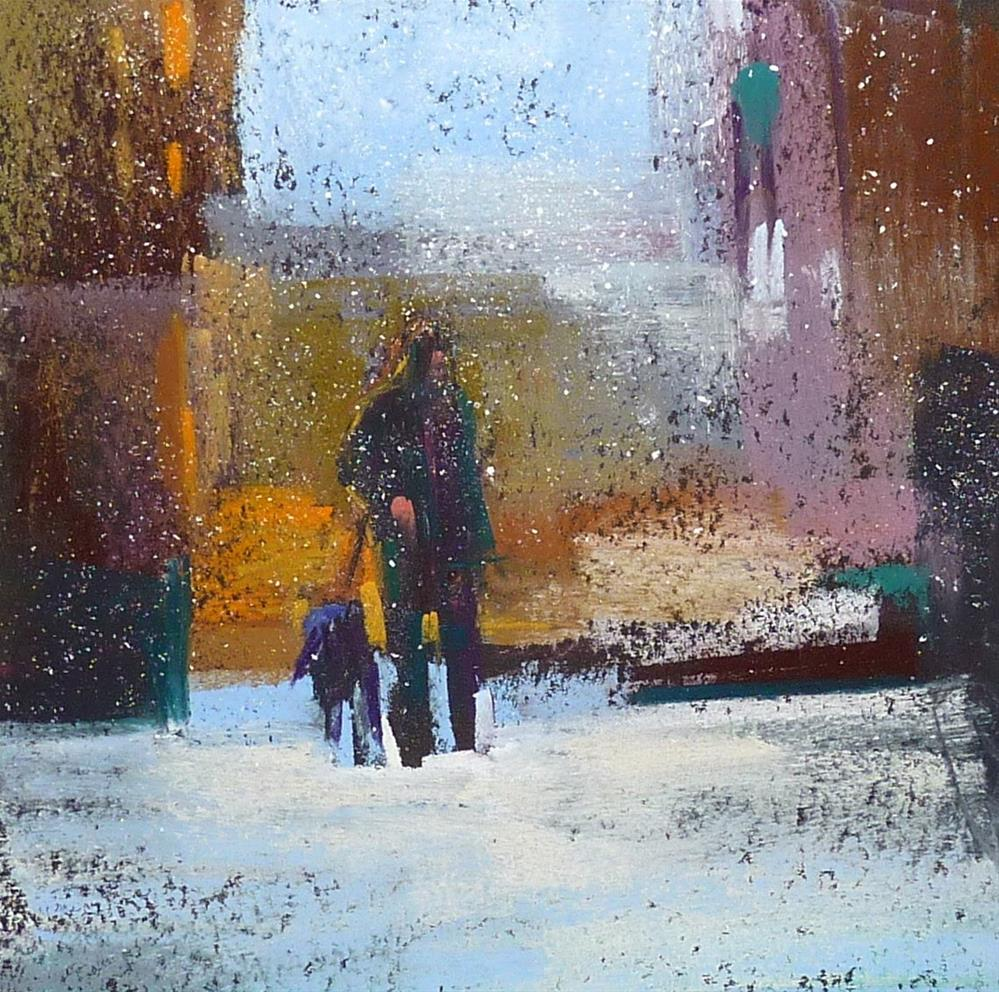 """Adding Figures to Paintings"" original fine art by Karen Margulis"