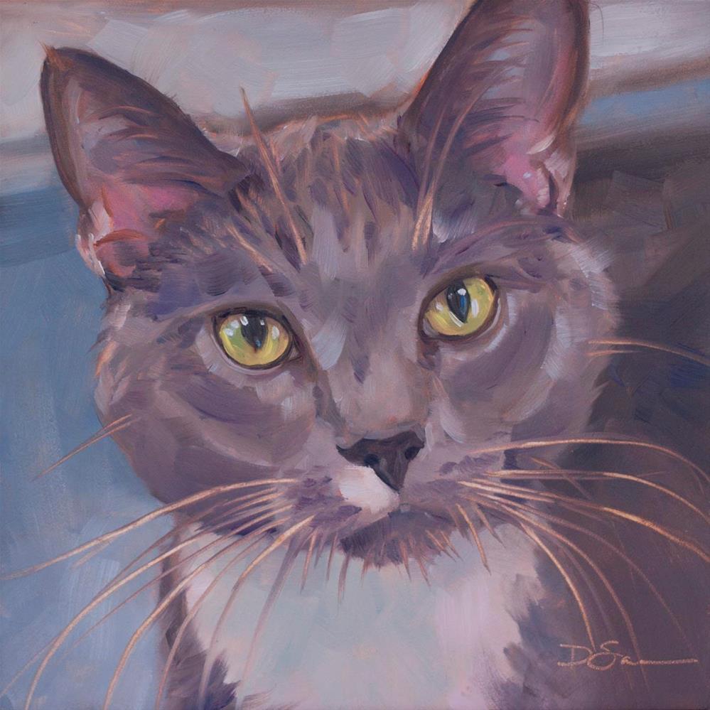 """""""Eyes of Love No.17 Tom East"""" original fine art by Deborah Savo"""