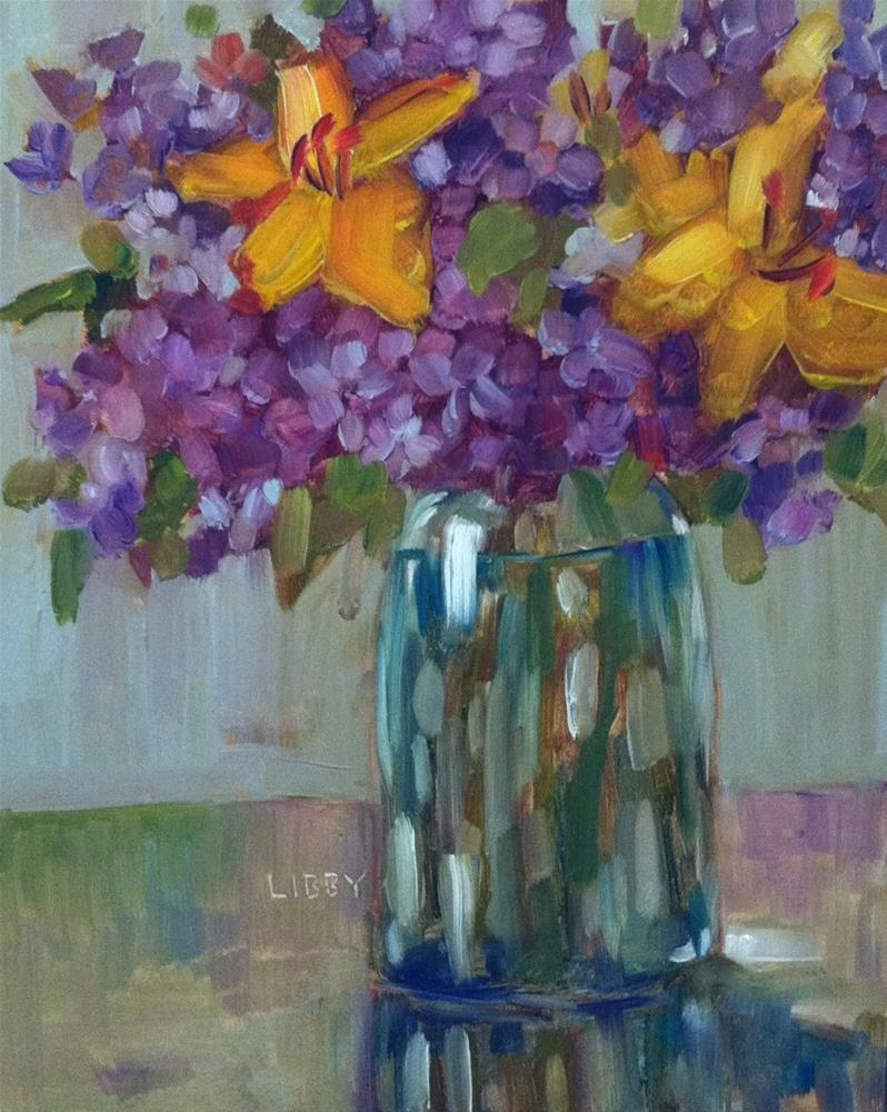 """Today's Blooms"" original fine art by Libby Anderson"