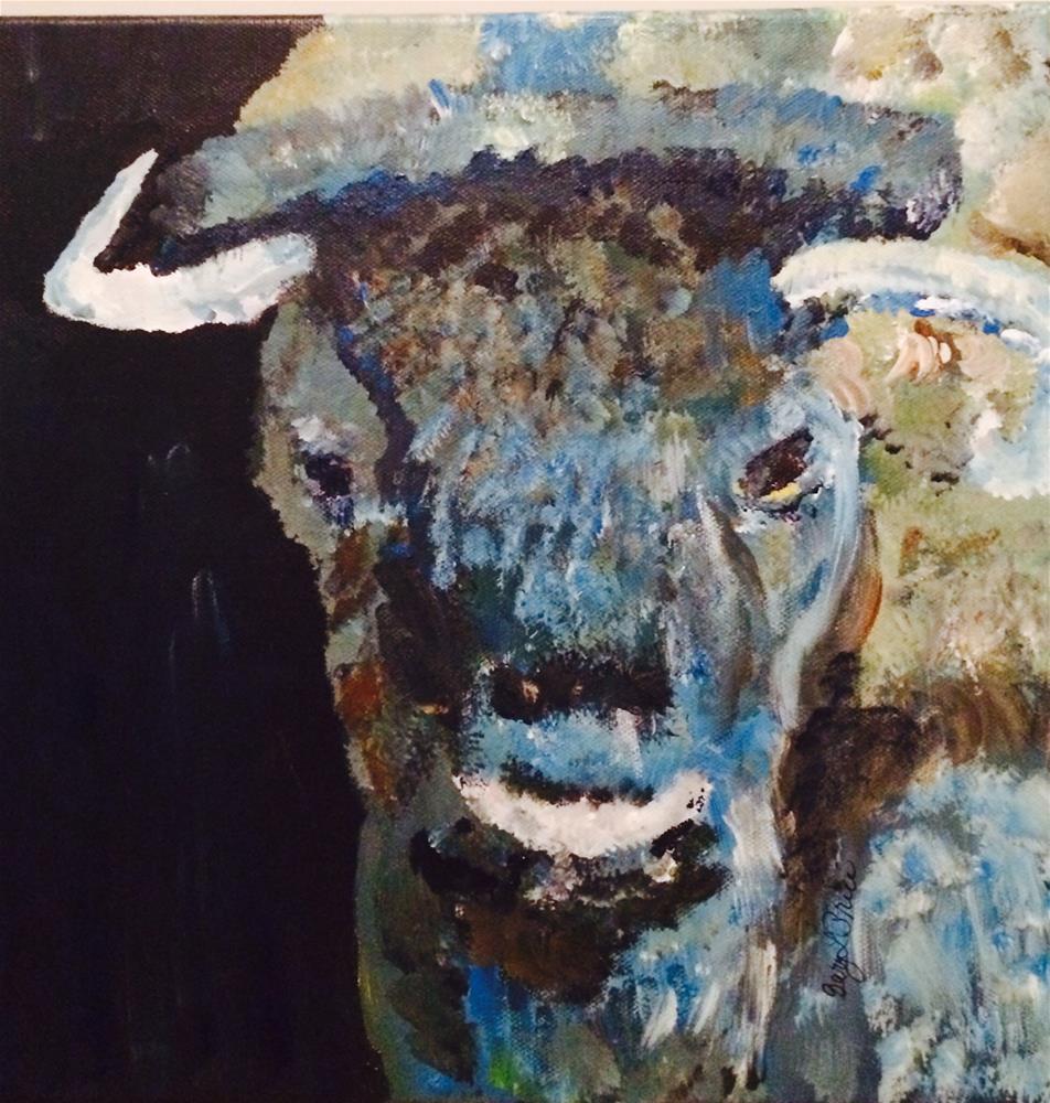 """Buffalo Blue"" original fine art by Gary Price"