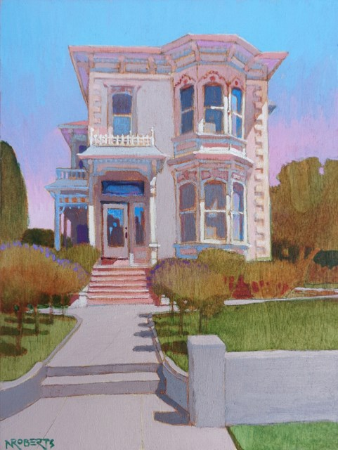 """Italianate Jewel, Alameda"" original fine art by Nancy Roberts"