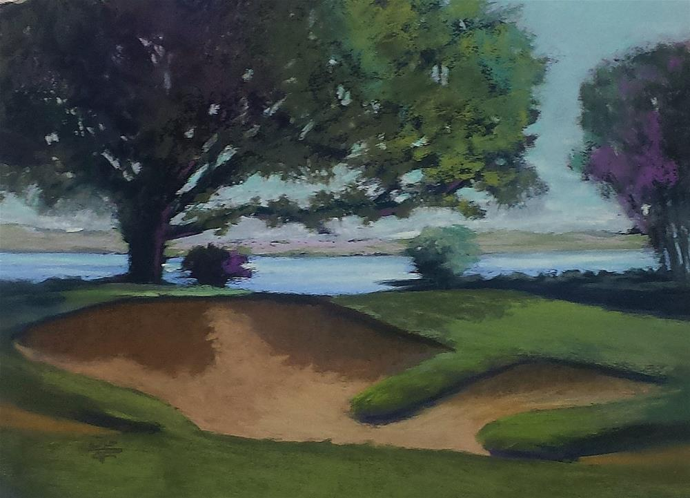 """""""Signature Hole at Oyster Reef"""" original fine art by Donna Donnon"""
