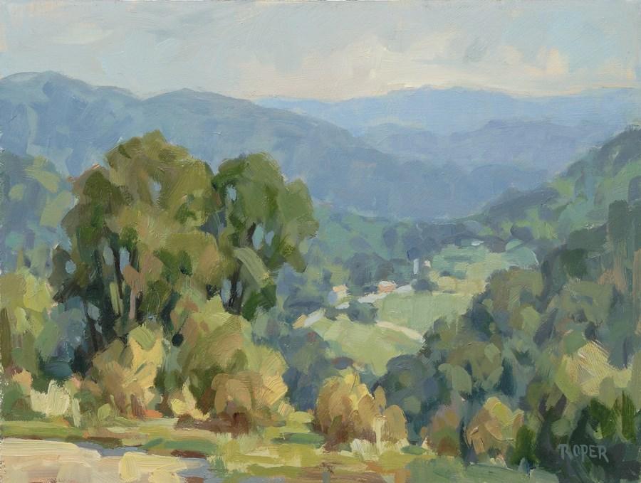 """""""DAY 5: Whisper Mountain Overlook"""" original fine art by Stuart Roper"""