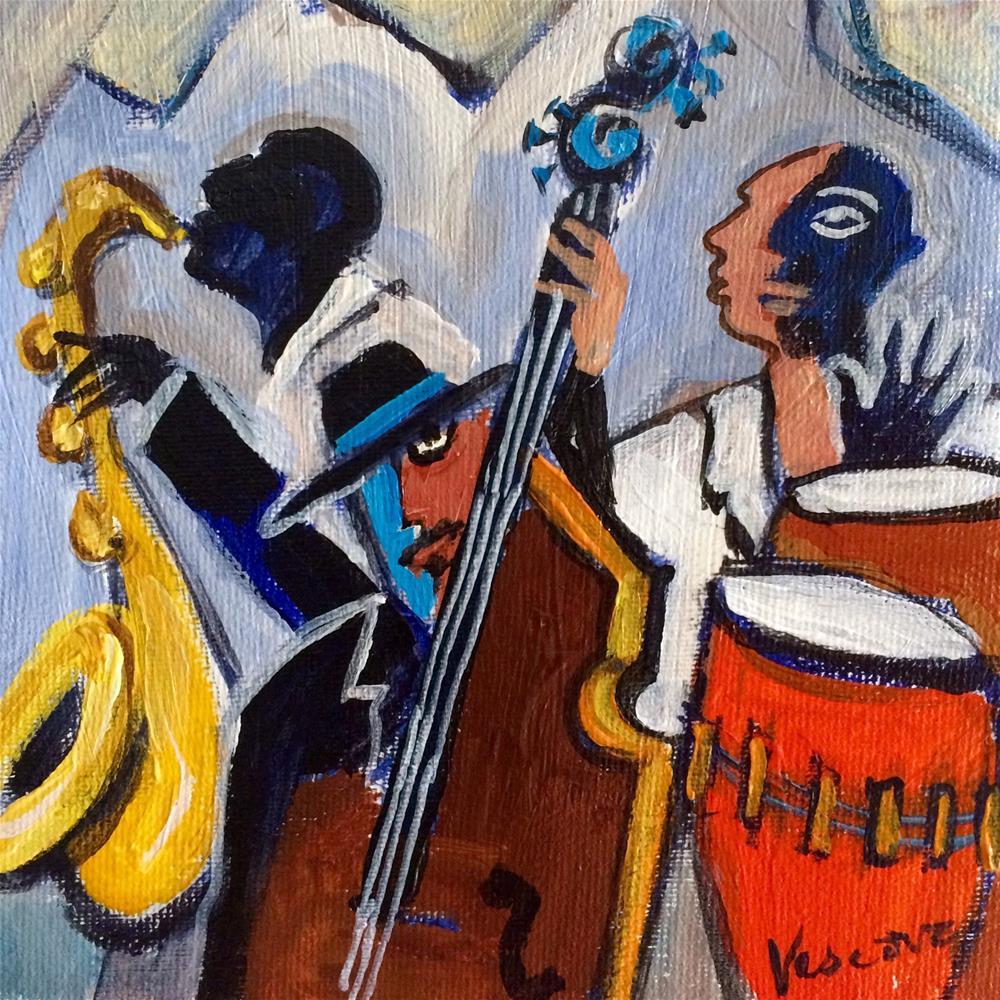 """Jazz Guys"" original fine art by Valerie Vescovi"