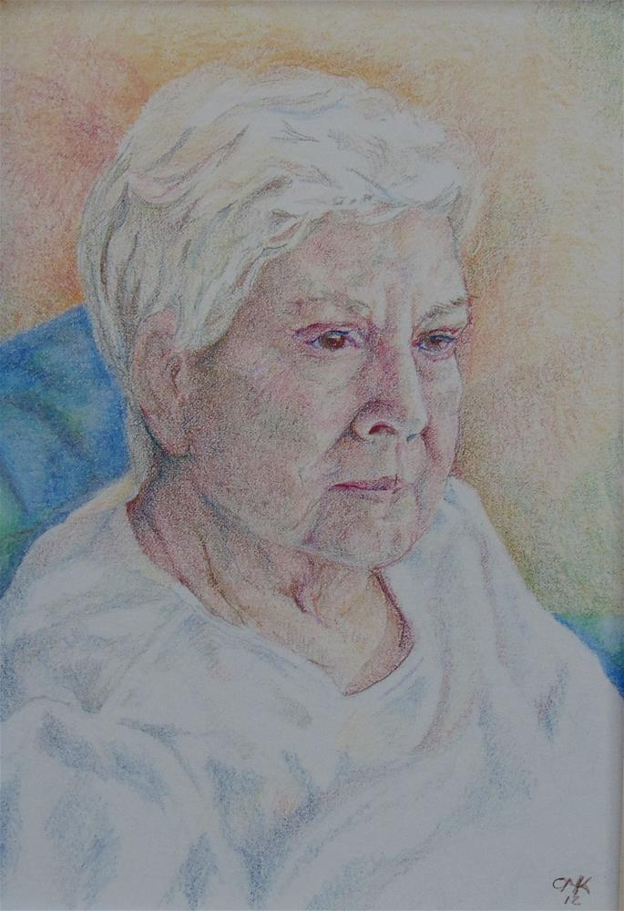 """My Mom"" original fine art by Catherine Kauffman"