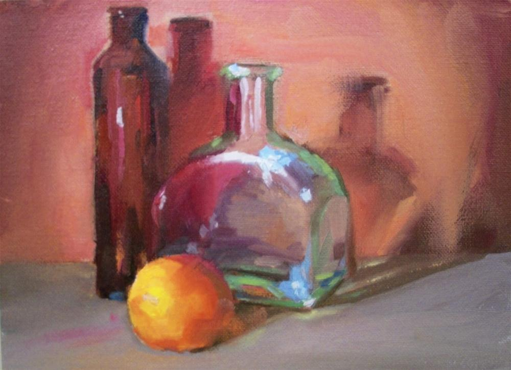 """RED ORANGE AND CLEAR"" original fine art by Doug Carter"