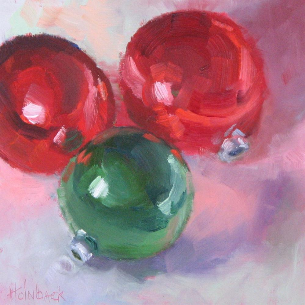 """Merry and Bright"" original fine art by Pam Holnback"