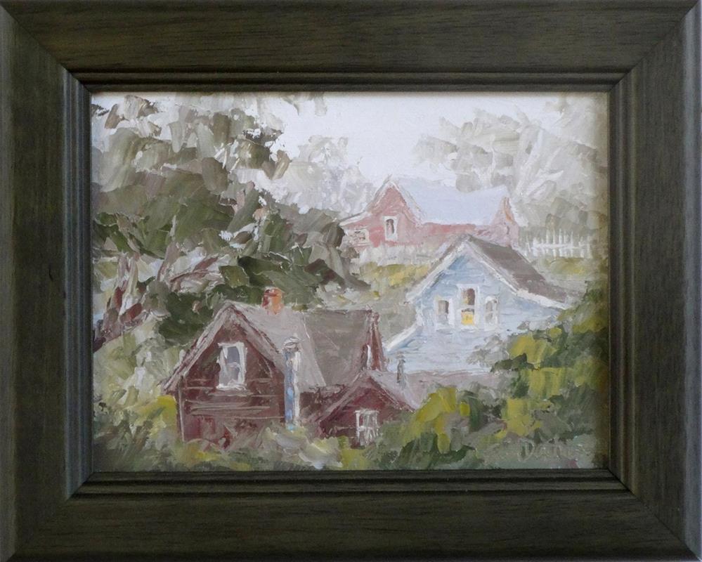 """""""Out My Upstairs Window"""" original fine art by Erin Dertner"""