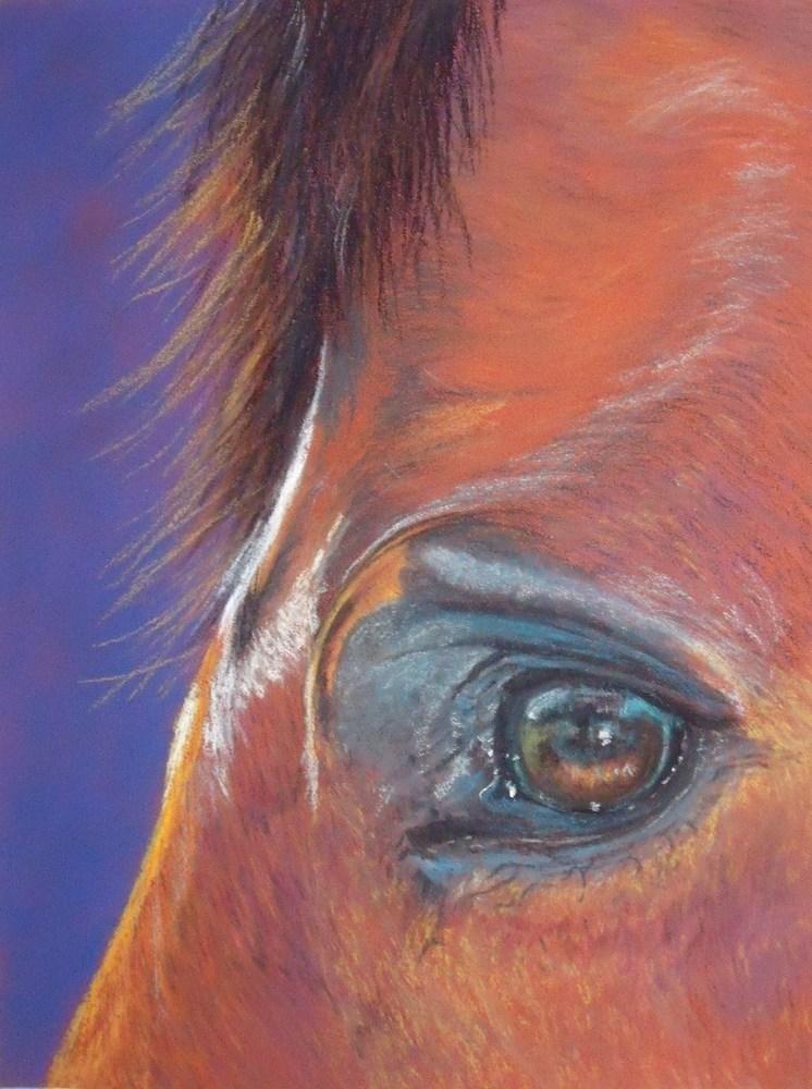 """Norma's Eye"" original fine art by Nelvia  McGrath"