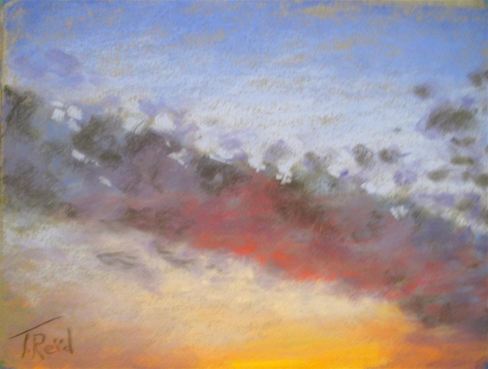 """Clouds at Dusk"" original fine art by Toby Reid"