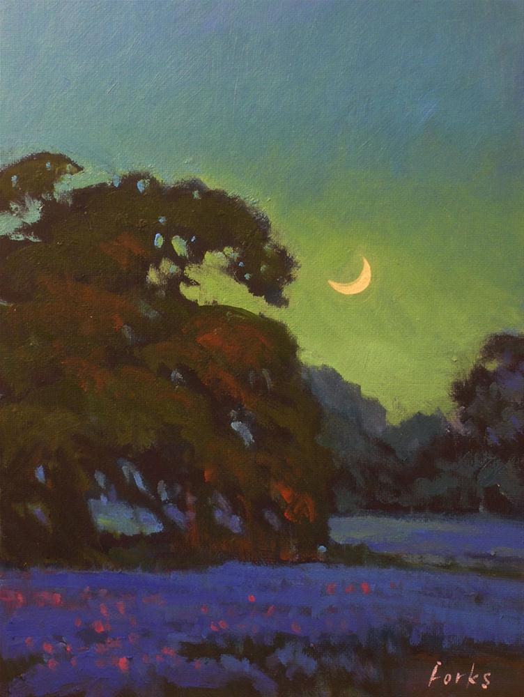 """Moonglow"" original fine art by David Forks"