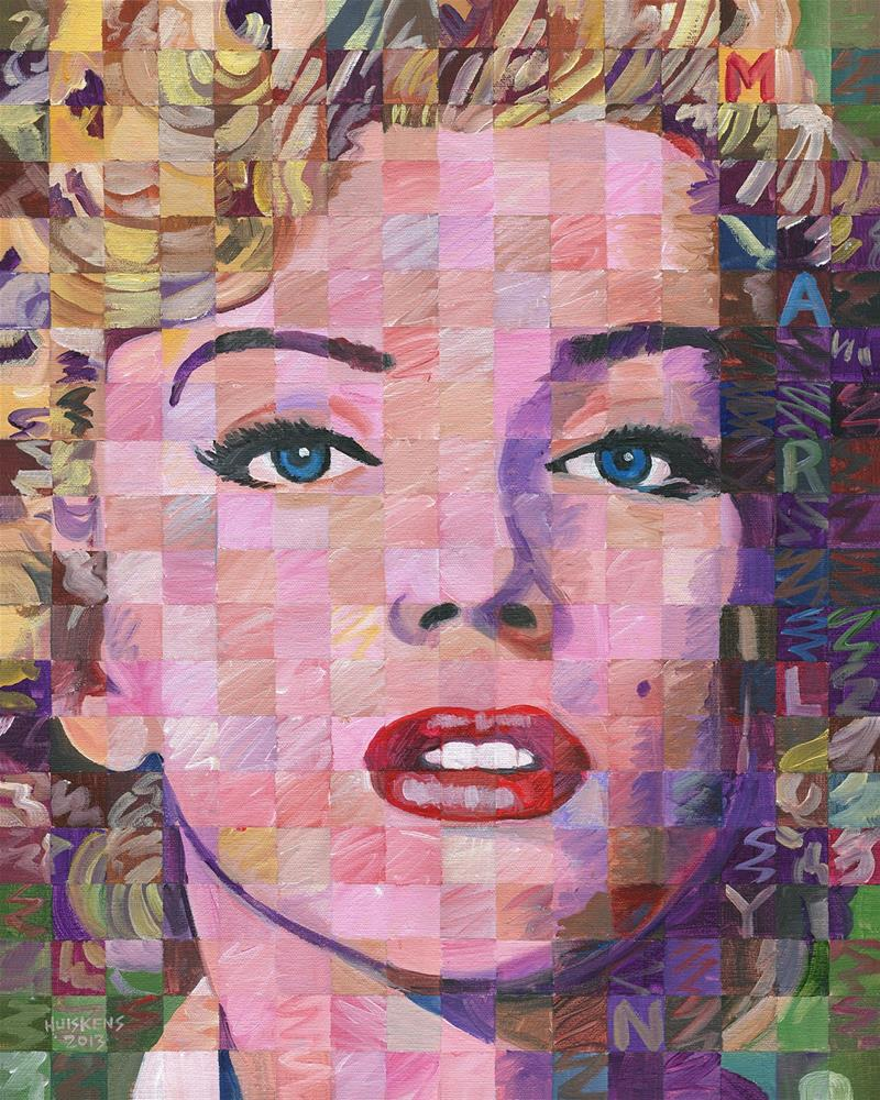 """Marilyn Monroe #8"" original fine art by Randal Huiskens"
