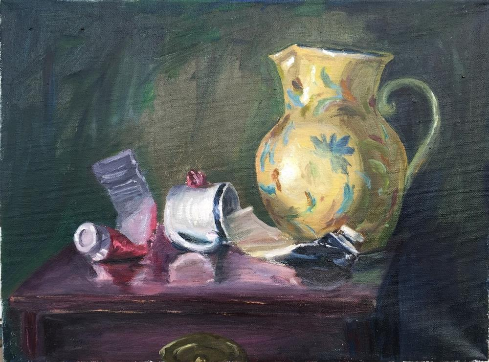 """Water Pitcher and Paint Tubes"" original fine art by Rick Blankenship"