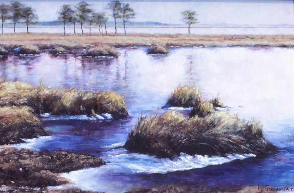 """Blackwater Winter"" original fine art by Joe Fitzgerald"
