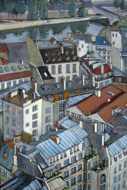 """Paris Rooftops"" original fine art by Teresa Haag"