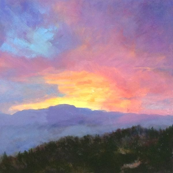 """Landscape, Sunset Oil Painting Spectacular Sunset by Colorado Landscape Artist Susan Fowler"" original fine art by Susan Fowler"