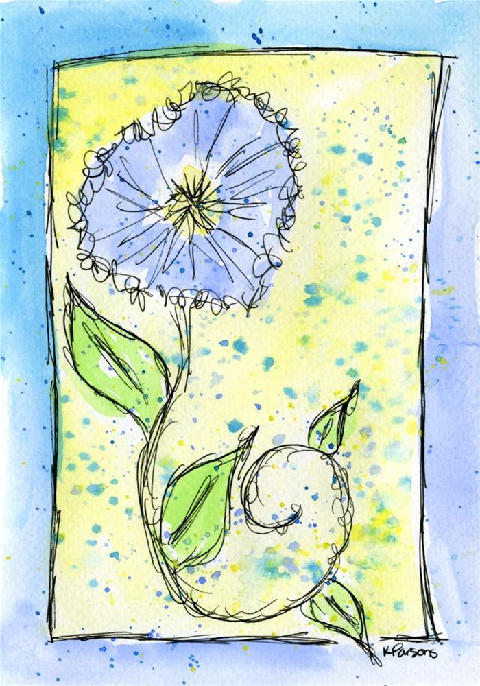 """Periwinkle Whimsy"" original fine art by Kali Parsons"