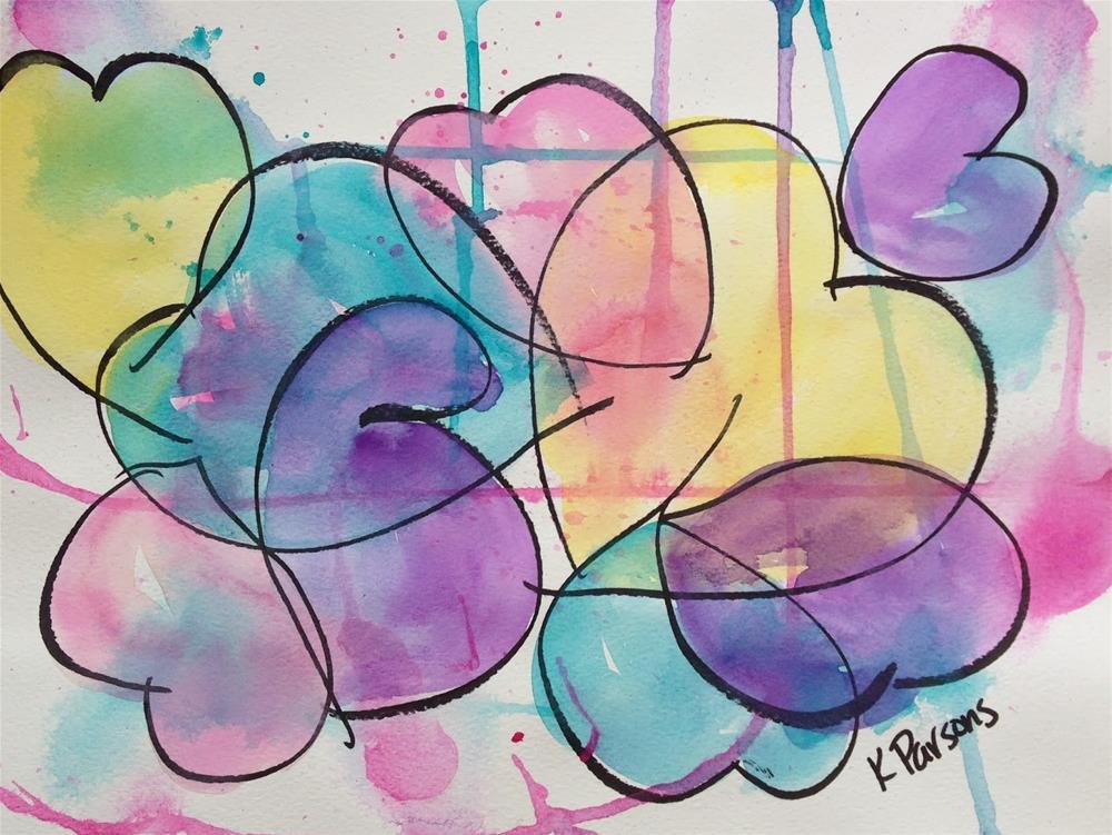 """""""Feelin' the Love"""" original fine art by Kali Parsons"""