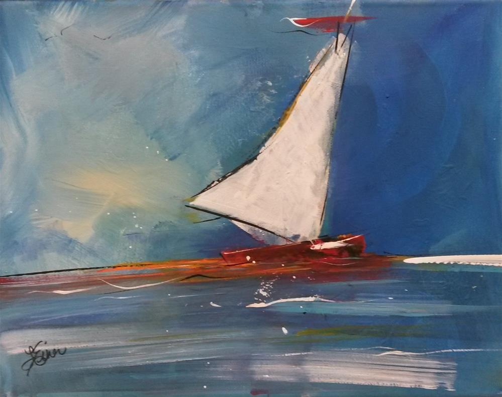 """Sailboat"" original fine art by Terri Einer"