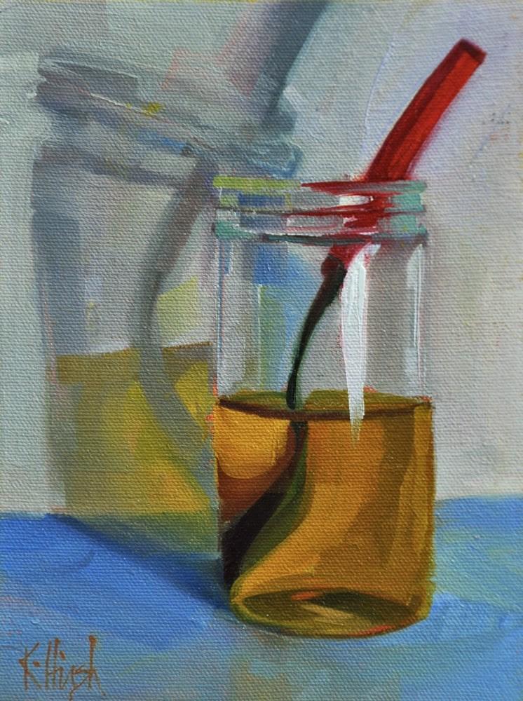 """The Honey Jar 2"" original fine art by kathy hirsh"
