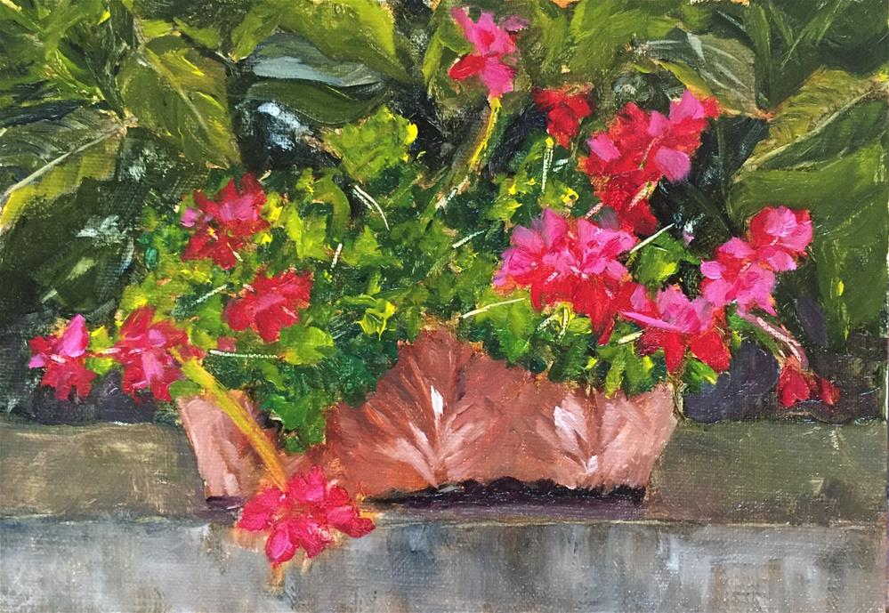 """Hot Pink"" original fine art by Renee Robison"