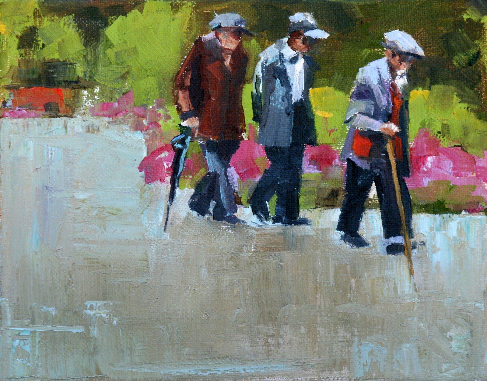 """A walk in the Park"" original fine art by Carol Carmichael"