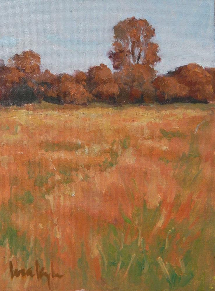 """Autumn Meadow"" original fine art by Lisa Kyle"