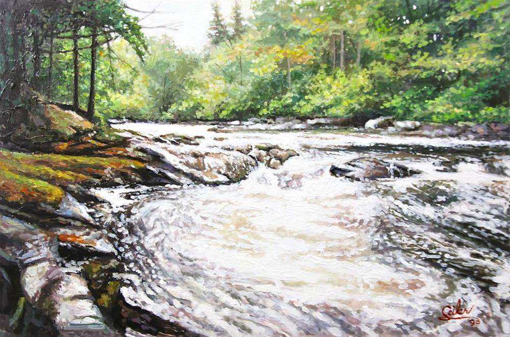 """Washburn Falls"" original fine art by Larry Seiler"