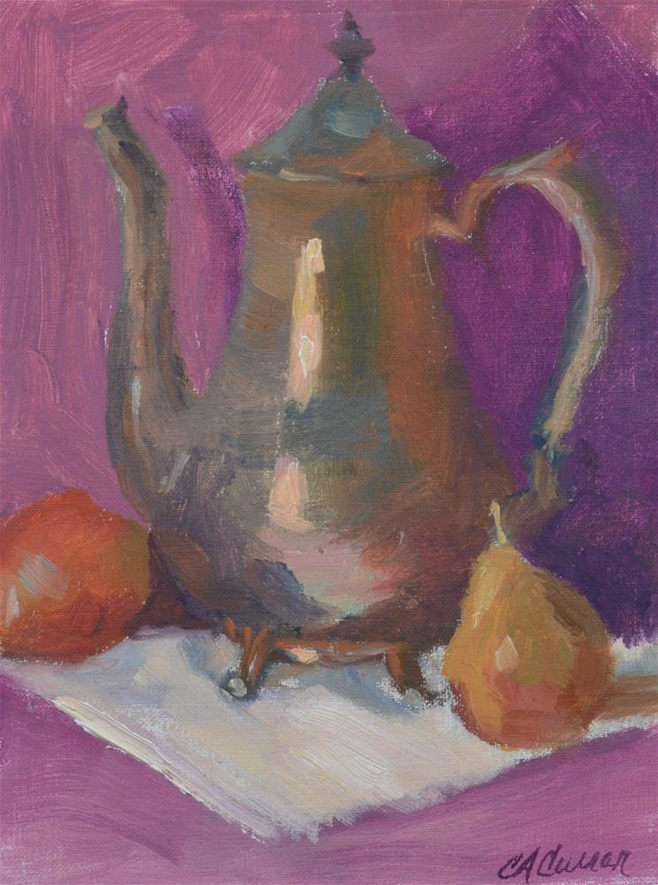 """Silver & Pears"" original fine art by Cheryl A Curran"