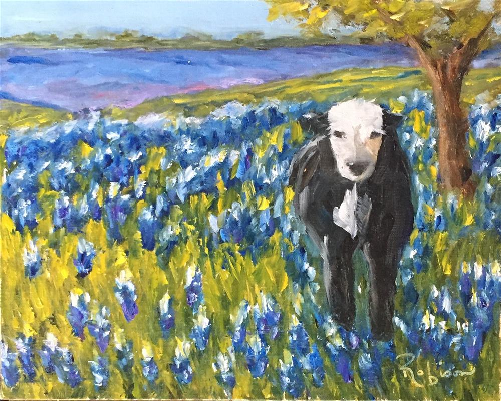 """Bluebonnet Heaven"" original fine art by Renee Robison"