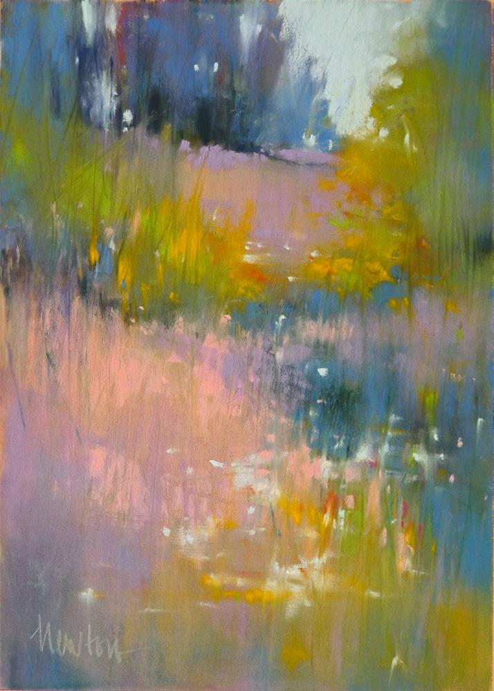 """Wild Meadow Lights"" original fine art by Barbara Benedetti Newton"