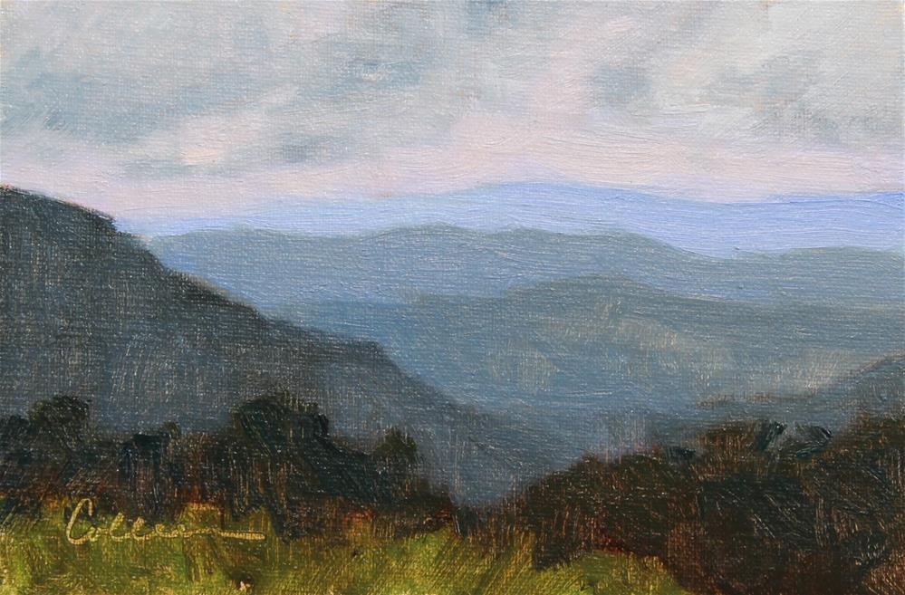 """Skyline Drive Overlook #4"" original fine art by Colleen Parker"