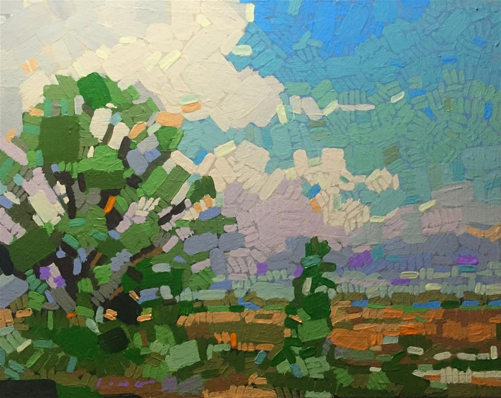 """Mosaic Landscape II"" original fine art by Chris Long"