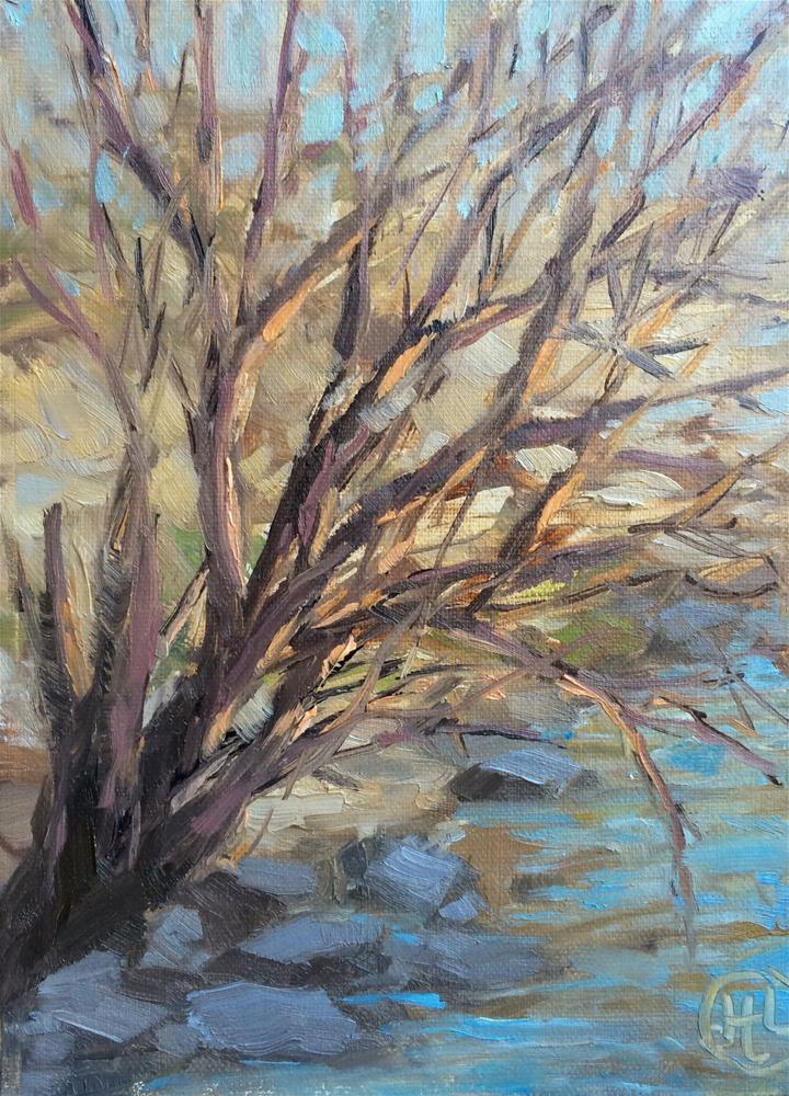 """solace"" original fine art by Dottie  T  Leatherwood"