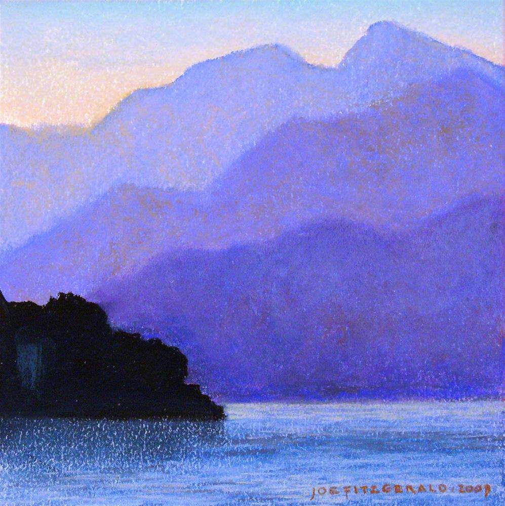 """Lake Maggiore II"" original fine art by Joe Fitzgerald"