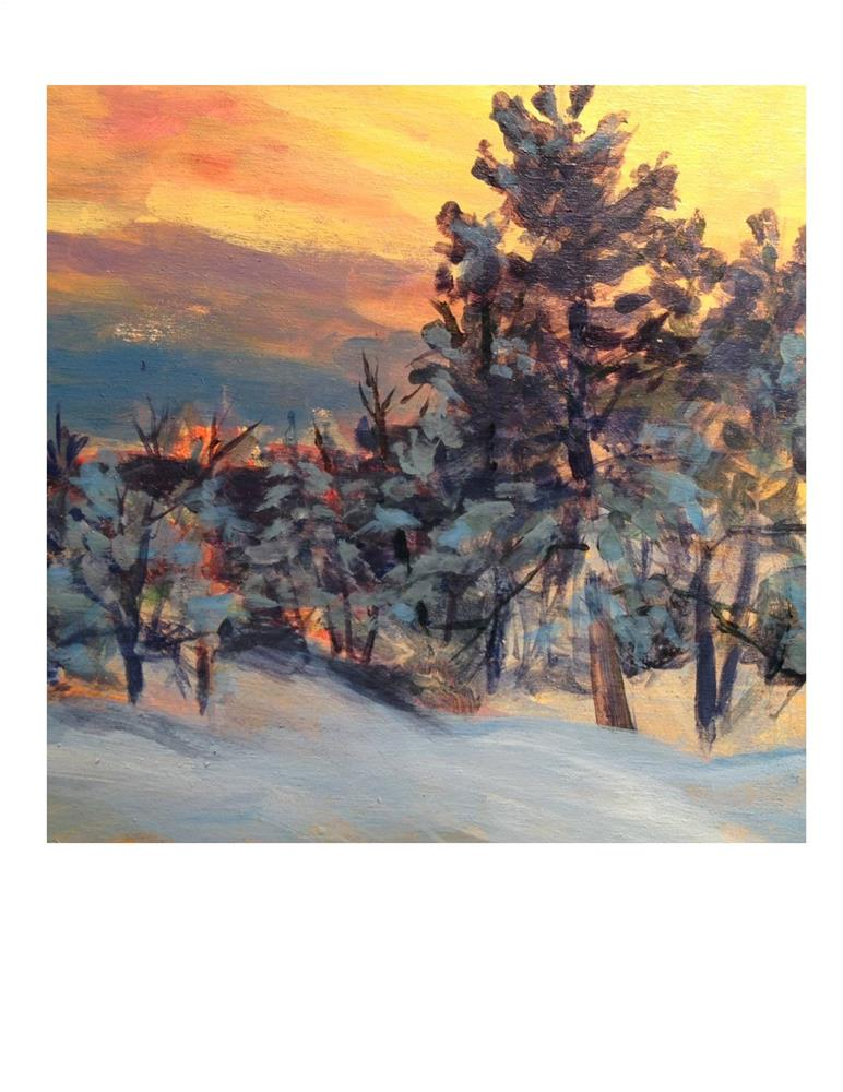 """Winter Woods Sunset"" original fine art by Suzanne Woodward"