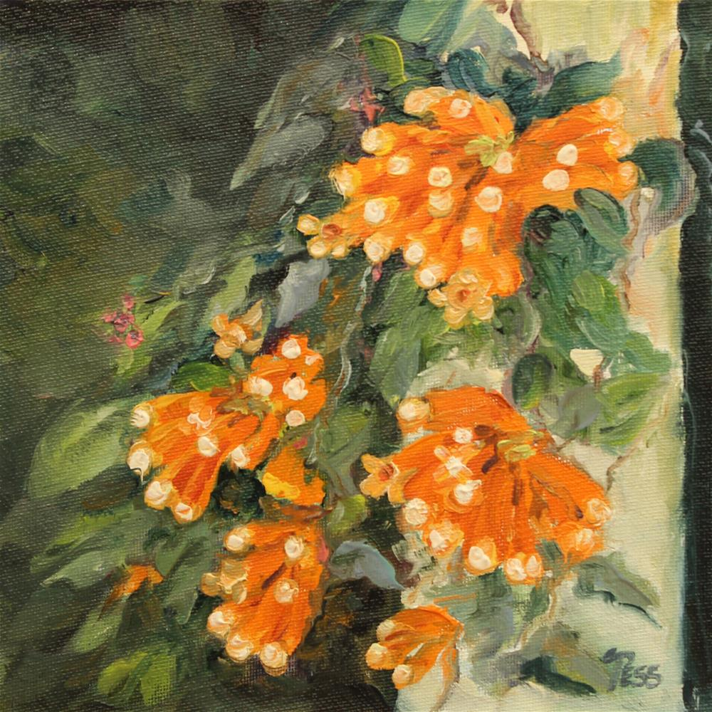 """Flame Vine"" original fine art by Tess Lehman"