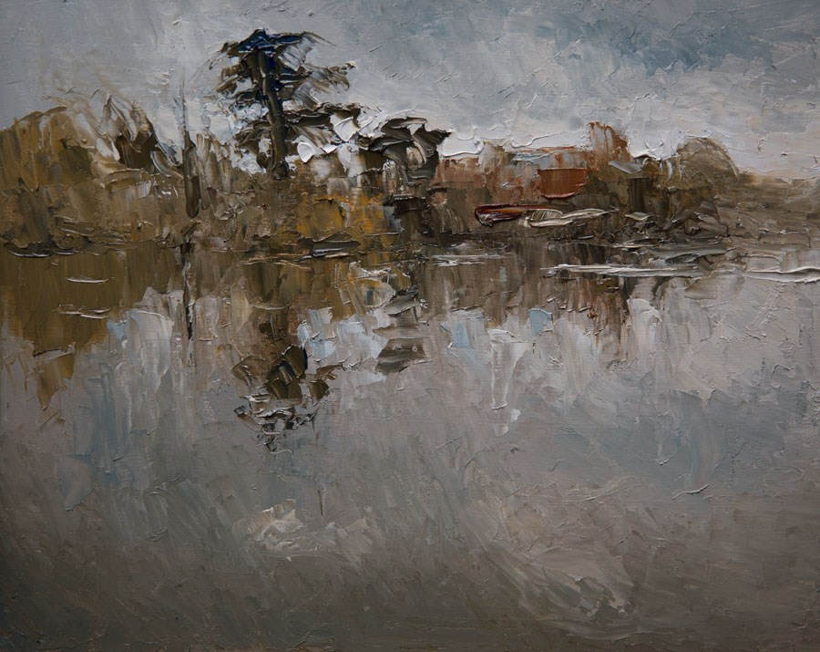 """Reflected Riverside"" original fine art by Jethro Knight"
