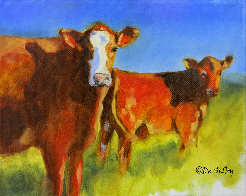 """""""Are You Looking at Me?"""" original fine art by De Selby"""