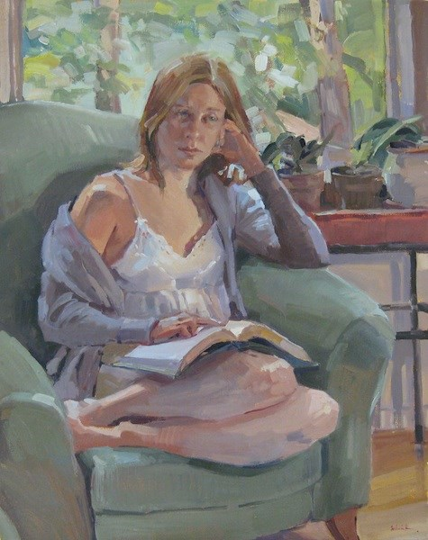 """Gentle Reader"" original fine art by Sarah Sedwick"