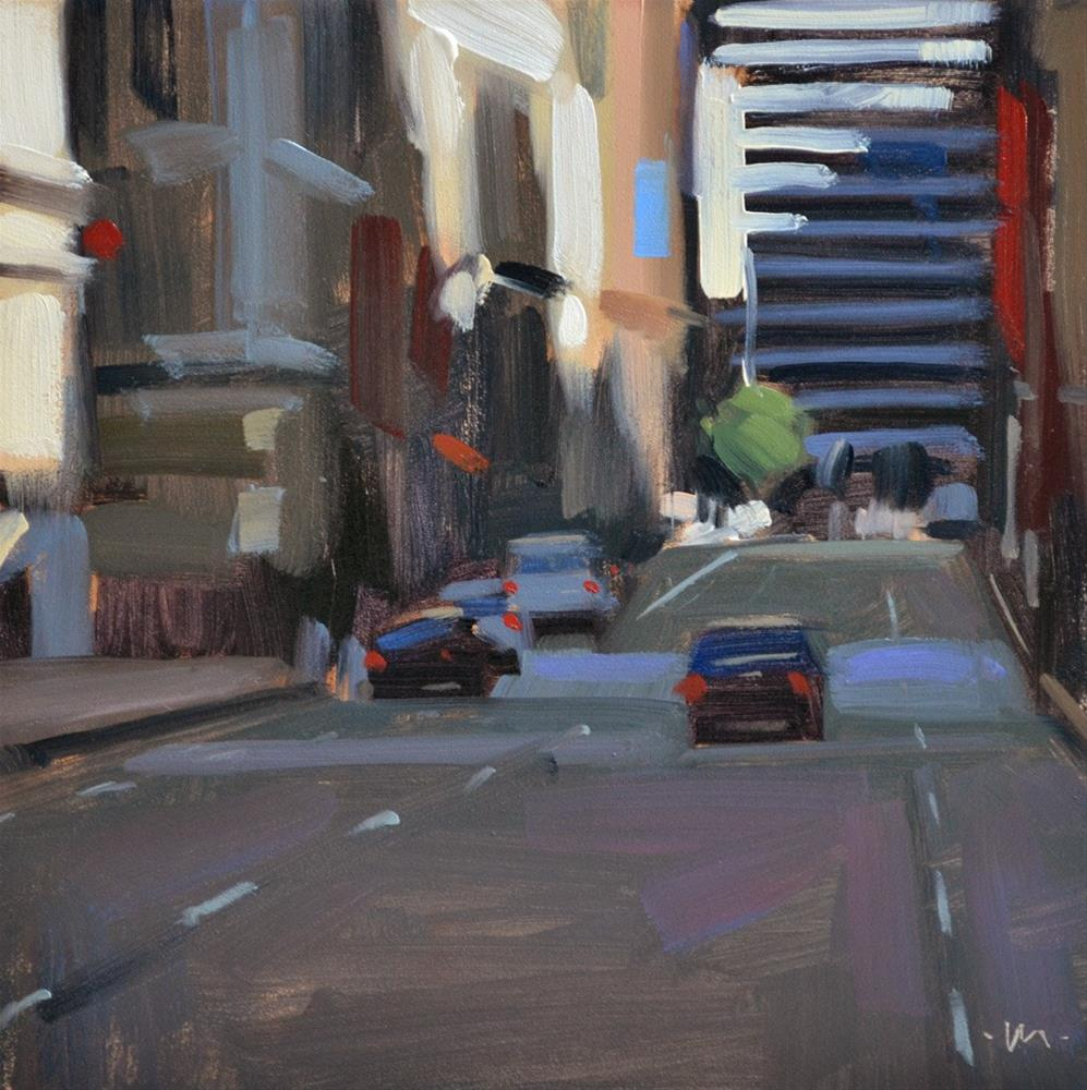 """Light in the City"" original fine art by Carol Marine"