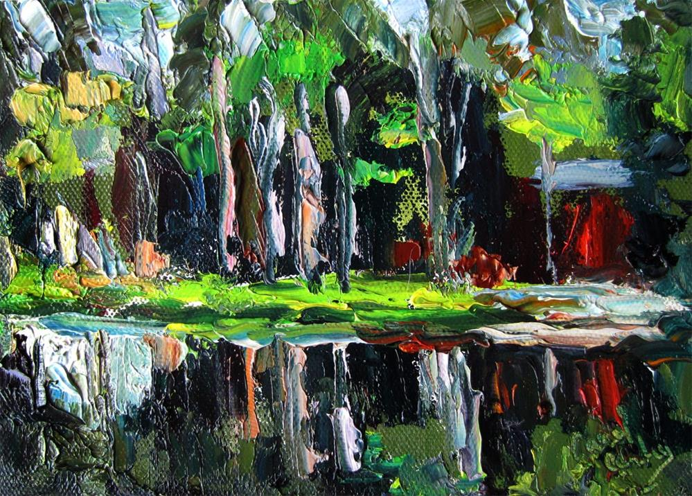 """Lake Crosby Woods"" original fine art by Carol Steinberg"