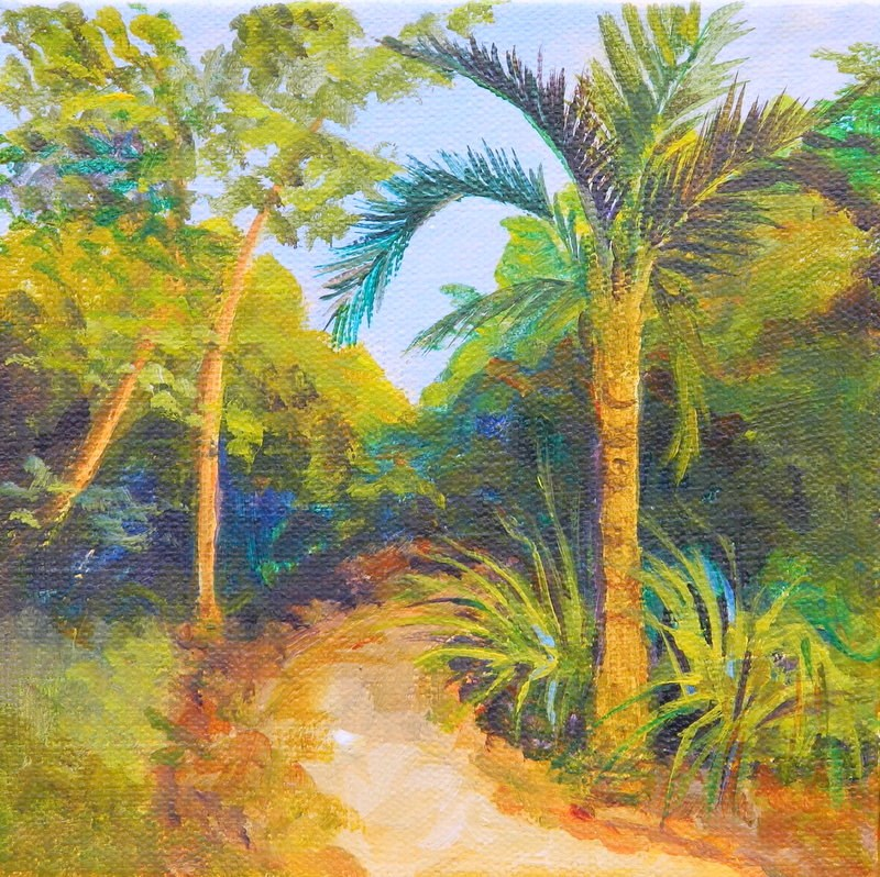 """I walk in Solitude with Adventure to be found"" original fine art by Gloria Urban"