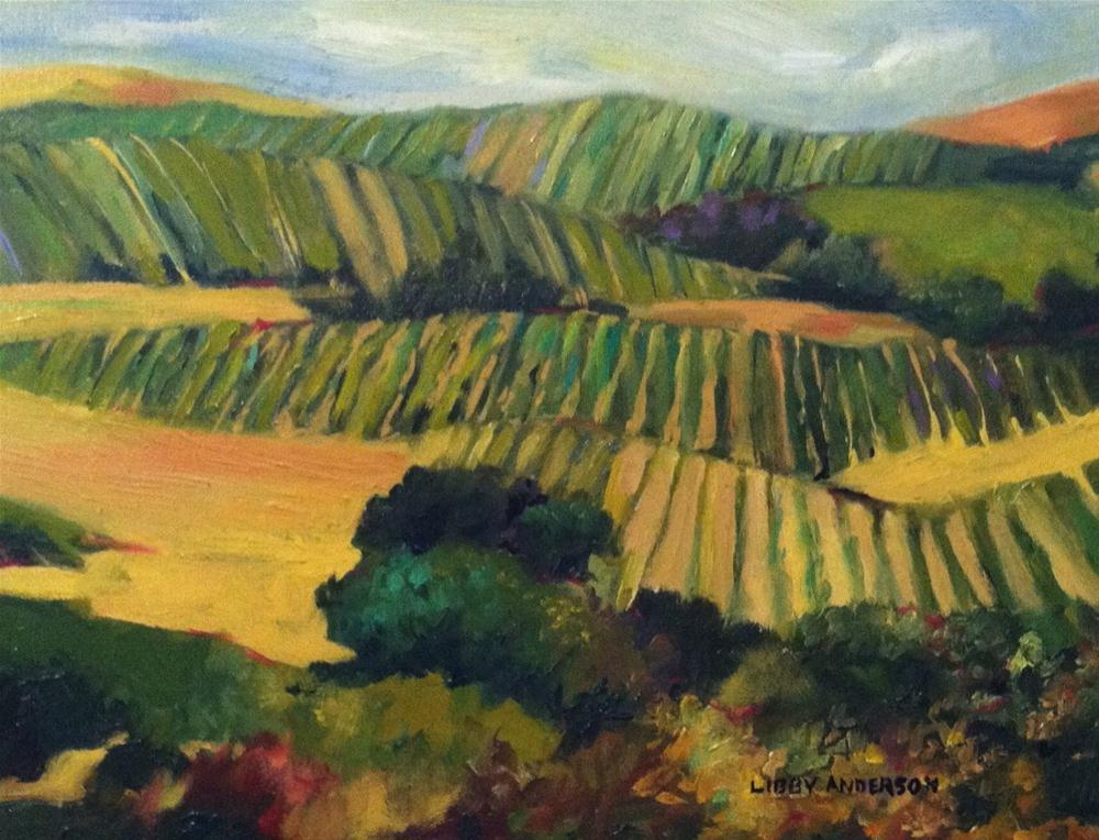 """Napa Quilt"" original fine art by Libby Anderson"