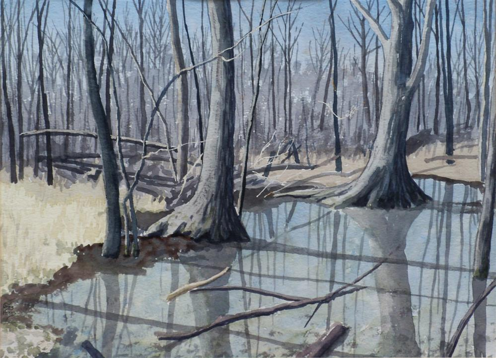 """February Thaw"" original fine art by Greg Arens"
