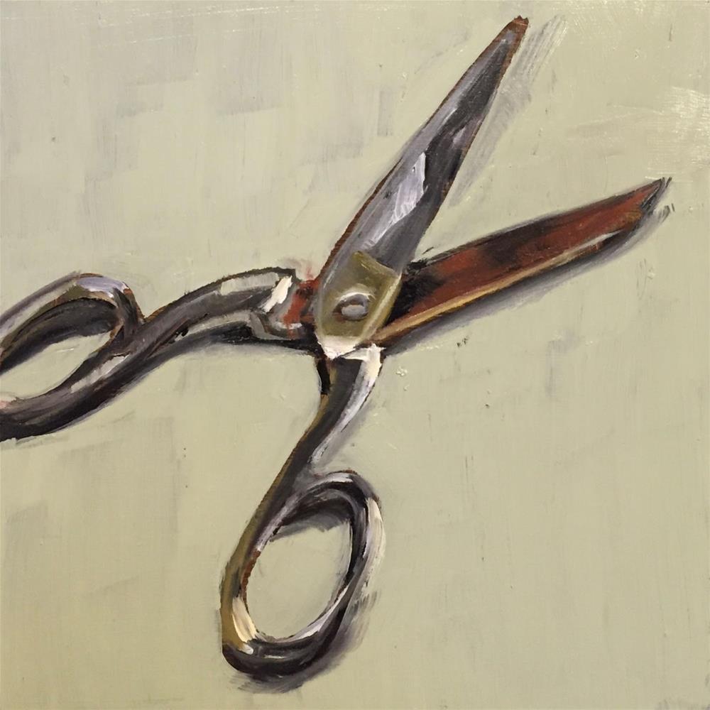"""""""Scissors"""" original fine art by Philine van der Vegte"""