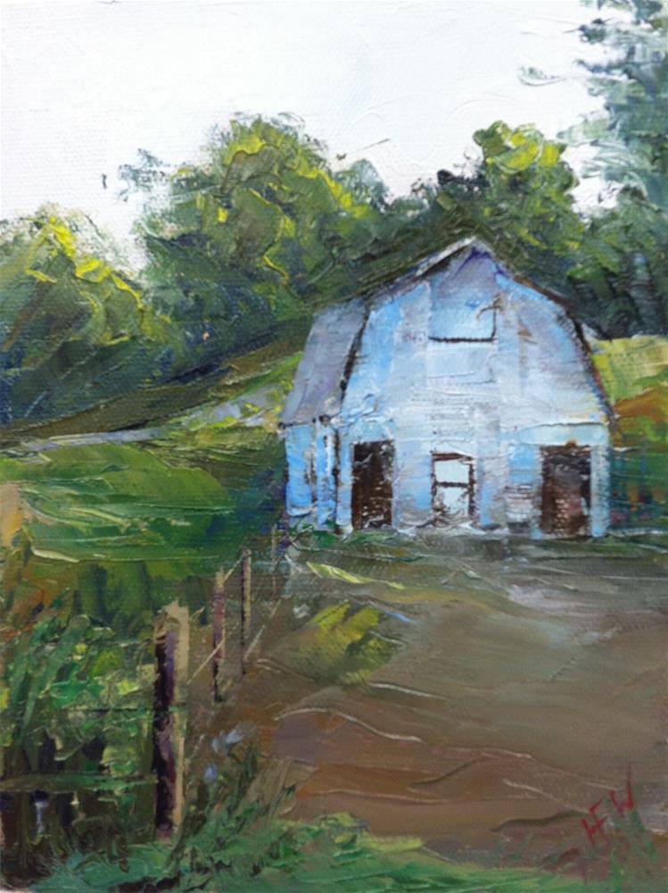 """The Old Barn"" original fine art by H.F. Wallen"